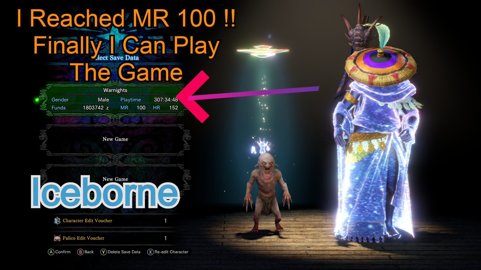 MHW IceBorne – Finally Reached MR 100 I Can Play The Game Now!!